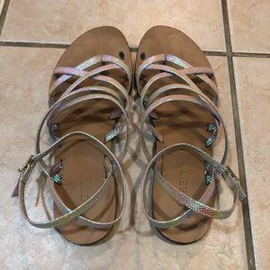 J. Crew Shoes - J. Crew Clara iridescent strappy sandals